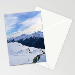 The snowy rocks at mountain tops Stationery Cards