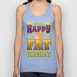 Happy Fat Tuesday Eat Pancakes Unisex Tank Top