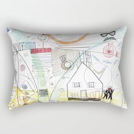 A Family Collaboration - 'No Place Like Home' Rectangular Pillow