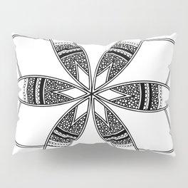 Simple black mandala on white Pillow Sham