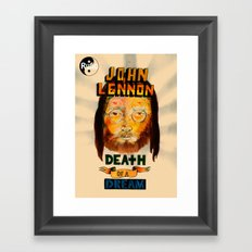 lennon dream Framed Art Print