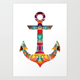 Decorative Anchor Art Print