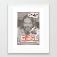 lebowski Framed Art Prints featuring Lebowski Tabloid by Robert Knight
