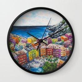 Cosy Cove from Cinque Terre, Italia Wall Clock