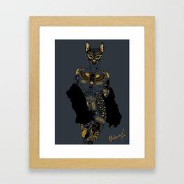 Late Night Egyptian Tales Ep. 2: Bastet Framed Art Print