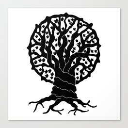 tree with circular branches Canvas Print