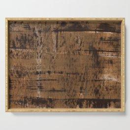 Dark brown painting Serving Tray