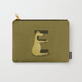 Pony Monogram Letter E Carry-All Pouch