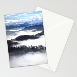 Sea of Fog in the Alps II Stationery Cards