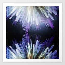 Crystalline Geometries Art Print