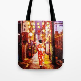 Japanese streets Tote Bag