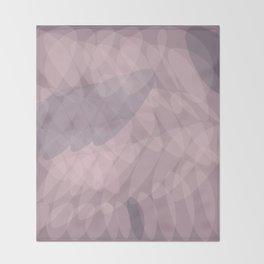 Blush Purple and Blue III Throw Blanket