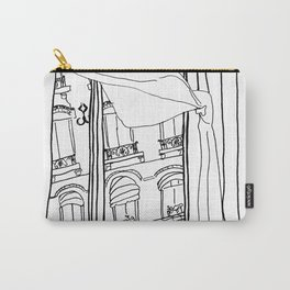 Window View in France  //  ink drawing Carry-All Pouch