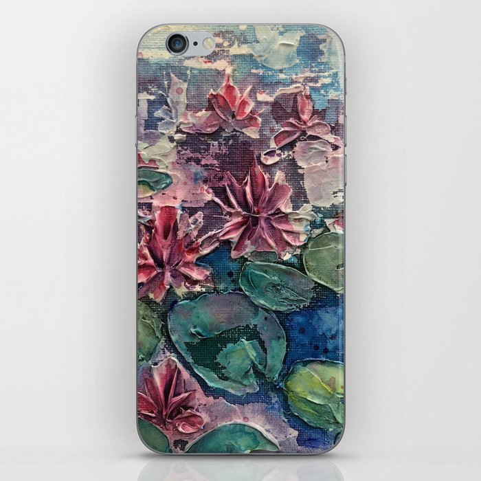 lotus pond iPhone Skin
