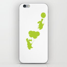 Green Bunnies iPhone Skin