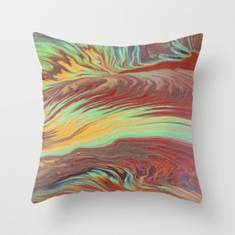 The Flow of Wood Throw Pillow