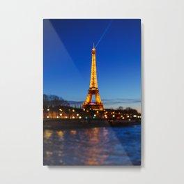 Eiffel Tower and Bokeh. Metal Print