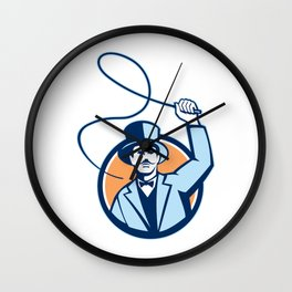Ringleader Ringmaster Whip Circle Retro Wall Clock