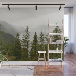 River fjords view Wall Mural