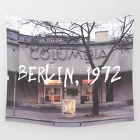 cinema Wall Tapestries featuring Cinema Columbia by Lauraleemtl
