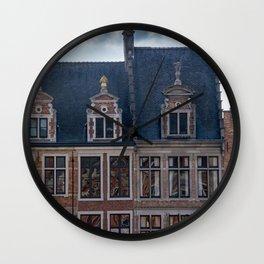Belgian Houses Wall Clock