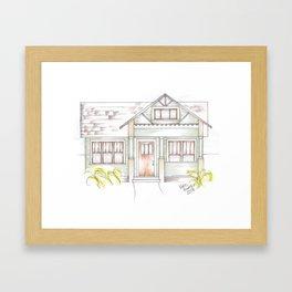 Green Craftsman Framed Art Print