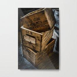 Explosive Boxes Metal Print