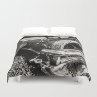 cars Duvet Covers featuring Dead cars by Bruce Stanfield Photographer