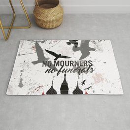 No mourners, No funerals - Six of crows Rug