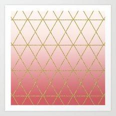 Rose Gold Geometric Art Print