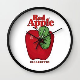 Red Apple Wall Clock