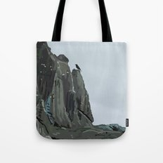 Cliffs with Birds Tote Bag