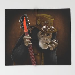 Rockers of the apes Throw Blanket