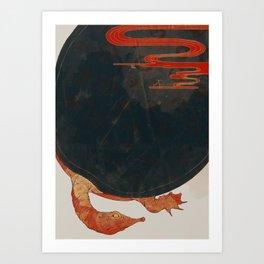 Soft-shelled turtle Art Print