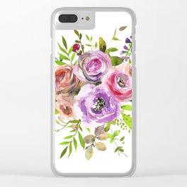 Flower Bouquet III Clear iPhone Case