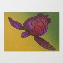 Sea Turtle (warm) Canvas Print