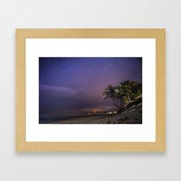 HAWAII - NorthShore night Sky - Stars and beach Framed Art Print