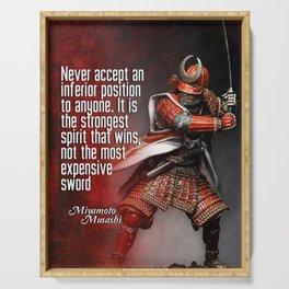 Miyamoto Musashi Samurai Winner Serving Tray