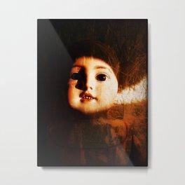 Creepy Baby Doll Metal Print