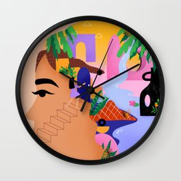 The paradise within me Wall Clock