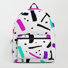 confetti minimal styled simple pattern Backpack