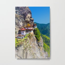 Bhutan Tiger's Nest Monastery Photo Metal Print