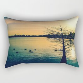 Going Home (Winter Lake at Dusk) Rectangular Pillow