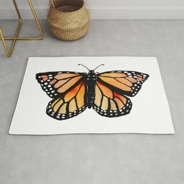 Watercolor Monarch Butterfly Rug