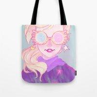 luna lovegood Tote Bags featuring Luna Lovegood by Magnta