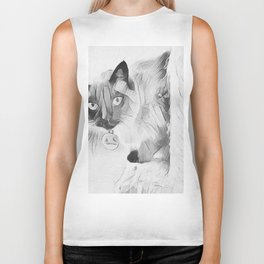 Peek A Boo Kitty Biker Tank