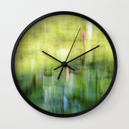 Tropical Impressionism - Lily Pond Wall Clock