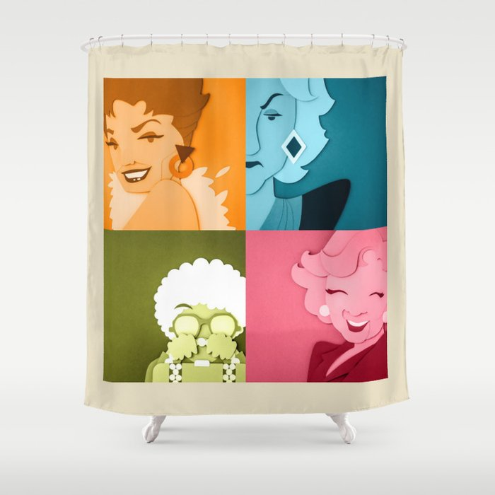 The Golden Girls Abstract Shower Curtain