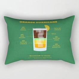 Orange Hurricane - Cocktail by Juan Rectangular Pillow