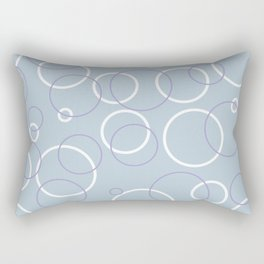 Light blue bubble pattern. Rectangular Pillow